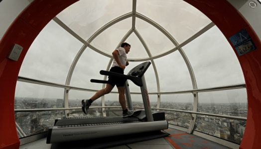 Man Running on Treadmill | Teplis Travel
