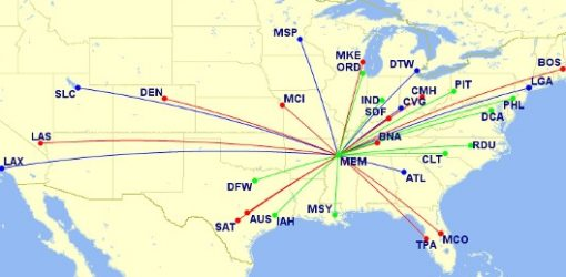 Delta US Flight Map | Teplis Travel