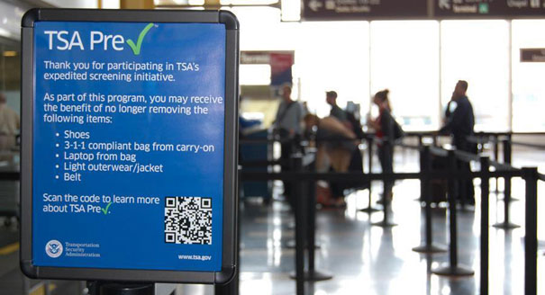 TSA Pre Check Sign | Teplis Travel