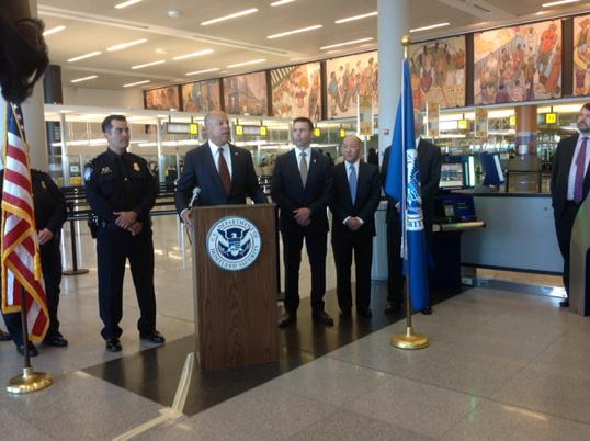 DHS Agents Making Announcement | Teplis Travel