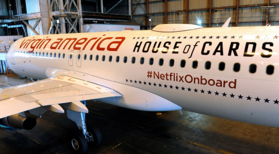 House of Cards Virgin America Plane | Teplis Travel