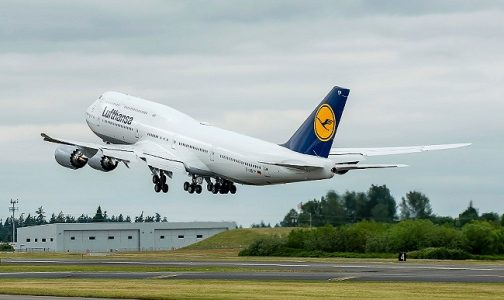 Lufthansa Airplane Taking Flight | Teplis Travel