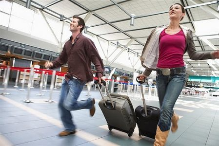 Travelers Running in Airport | Teplis Travel