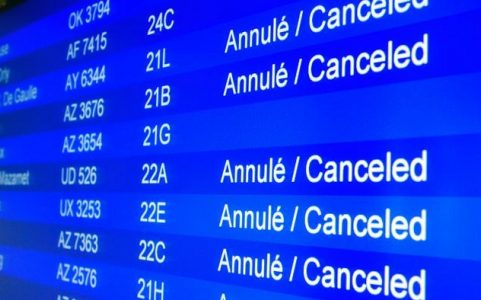 Cancelled Flights Board | Teplis Travel