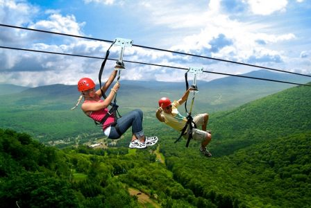 Couple Ziplining | Teplis Travel