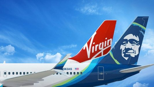 Virgin America and Alaska Airlines Airplanes | Teplis Travel