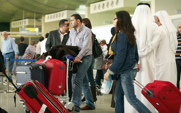 Travelers in United Emirates Airport | Teplis Travel