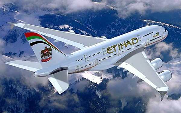 Etihad Airplane in Flight | Teplis Travel