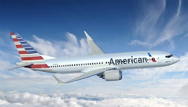 American Airines Plane in Mid Flight | Teplis Travel