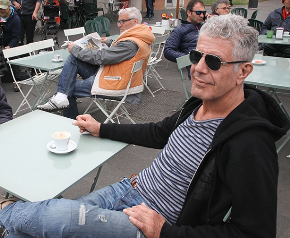 Anthony Bourdain at a Cafe | Teplis Travel
