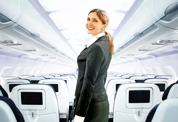 Flight Attendant on Airplane | Teplis Travel
