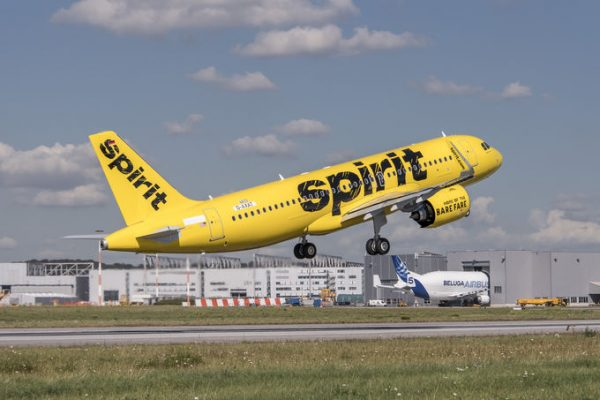Spirit Airplane Taking Off Runway | Teplis Travel