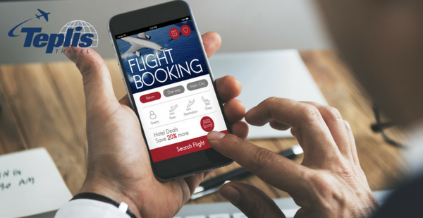 Travel and Expense Management Online Flight Booking on Mobile Phone | Teplis Travel